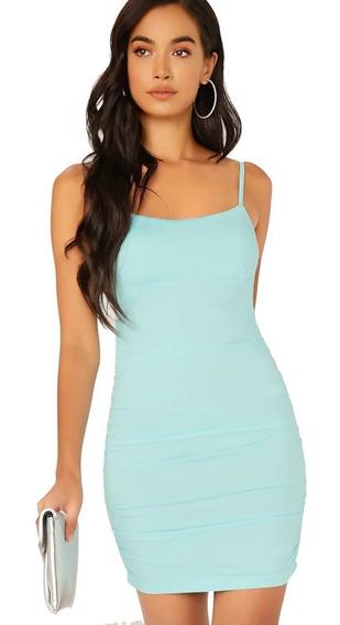 Vestido Ajustado Aona Para Mujer Color Celeste