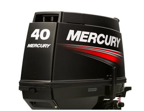 Imagen 1 de 14 de Motor Mercury Fuera Borda 40 Hp Comandos Arranque Electrico