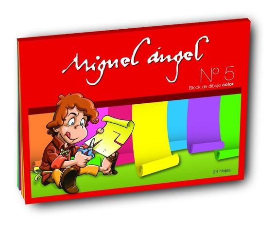 Block De Dibujo Color Miguel Angel 24 Hojas Nº5