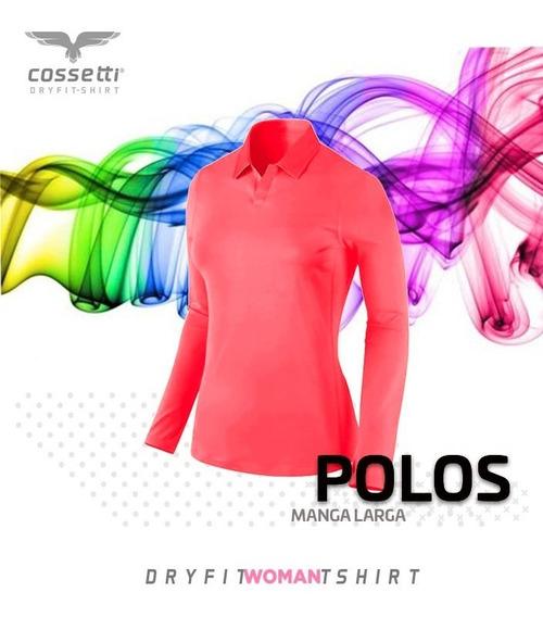 Playera Tipo Polo Cossetti Larga Dry Fit Colores Neón Xl 2xl