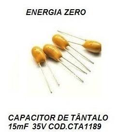Capacitor De Tântalo 15mf 35v Cod.cta1189 Frete Cr