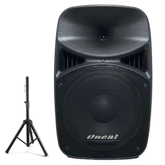 Caixa De Som Ativa Oneal Amplific Bluetooth 380w Usb + Tripé