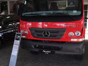 Mercedes Benz Accelo 1016 2018 Rojo Diesel 0km
