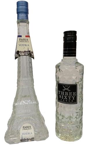 Combo Vodka 360 De 500cc + Vodka Torre Eiffel Frances