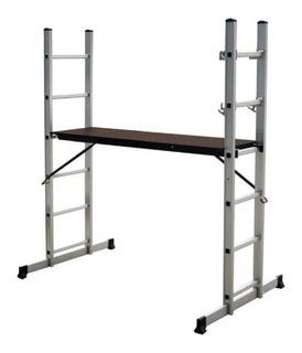 Escalera Aluminio Multiposición Kushiro 8 Escalones Cuotas