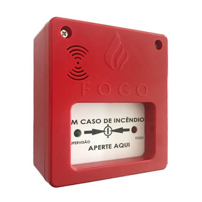 Acionador De Incêndio Sirene 12v/24v Alarme Manual Segurimax
