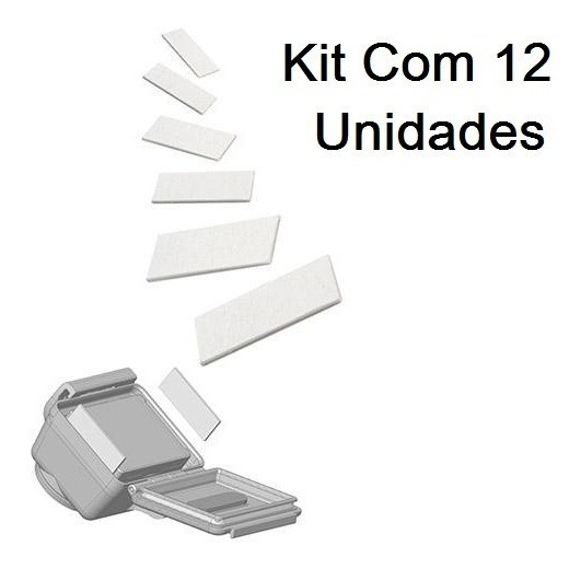 Kit Com 12 Pastilhas Anti Embaçantes Anti-fog Gopro 6 Black