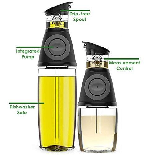 juego de 2 unidades con 200 ml cada uno Dispensador de aceite y vinagre con pipeta de cristal H/&D DropDolio perfecto para ciabatta y ensalada