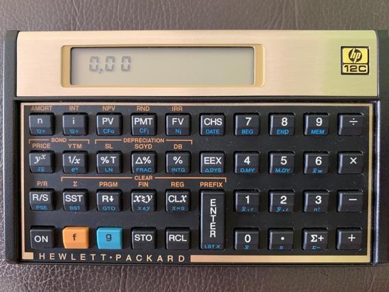 Calculadora Financeira Hp-12c 120 Funções Gold