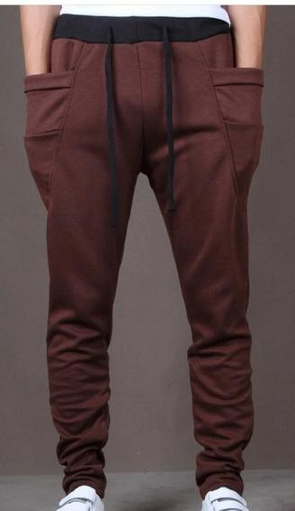 Pantalon Tipo Harem Cafe Juvenil Diseño