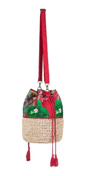 Bolsa Roxy Mujer Roja Floreada Native To Cuba Erjbp03470rzm6