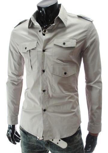 Camisa Slim Fit Tripple Pocket Shirt Militar Al Mejor Precio