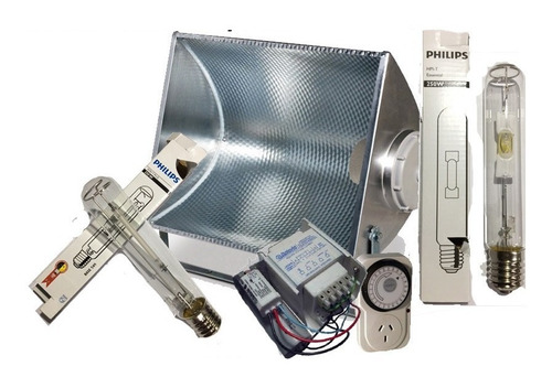 Kit Cultivo Indoor Mercurio Halogenado/sodio Philips 250w