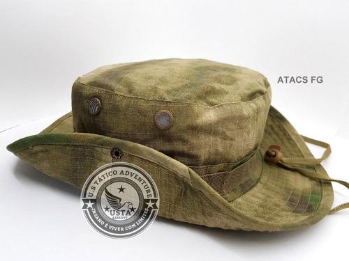 Boonie Hat Tático Militar Camuflado Atacs Fg