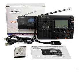 Rádio Am Fm Sw Mp3 Retekess V-115 ((pronta Entrega))