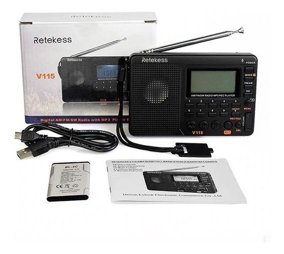 Rádio Mp3 Retekess V-115 (brasil Sem Taxa)(pronta Entrega)