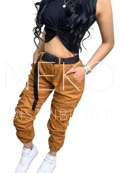 Pantalón Cargo Para Mujer