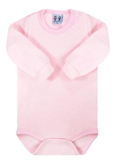 Body Para Bebê Rosebud Longa Soft Glacê Peluciado Rosa Claro