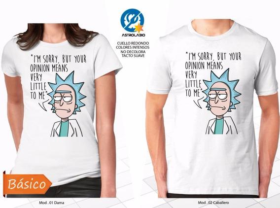 Rick And Morty Playera Little Opinion