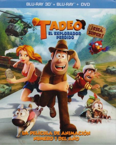 Tadeo El Explorador Perdido Blu-ray 3d + Blu-ray + Dvd