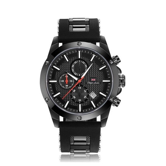 Relógio Philiph London Masculino Ref: Pl80069612m Pr Black