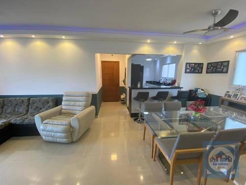 Apartamento Com 3 Dormitórios À Venda, 131 M² Por R$ 870.000,00 - Campo Grande - Santos/sp - Ap5697