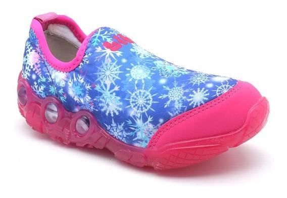 Tênis Bibi Infantil Menina Frozen Luz 545131
