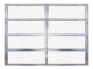 Vitro Basculante 2 Seções De Alumínio Brilhante 0,80 X 1,20