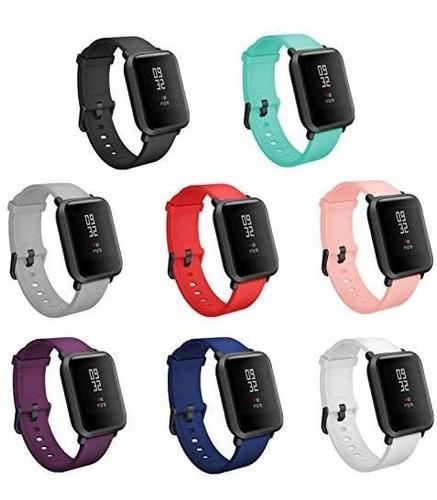 Imagen 1 de 6 de Teckmico 8pcs Bandas De Repuesto Para Amazfit Bip Smartwatch