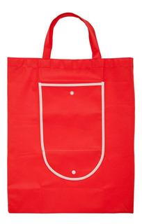 Bolsa Ecologica Con Broche Color Roja