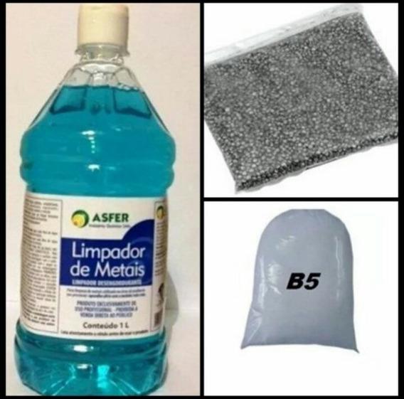 Kit Limpeza Polimento Tamboreador Lentilha Shampoo B5 Joia