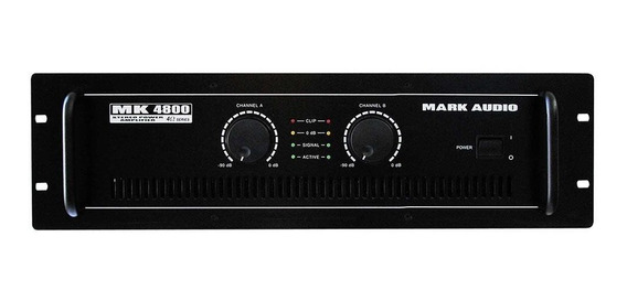 Amplificador De Potência Mark Audio Mk4800 800 Watts Rms
