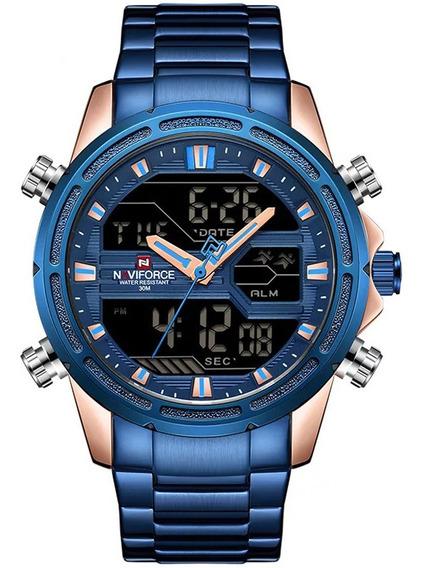 Relógio Masculino Nf9138s Esportivo Digital Original