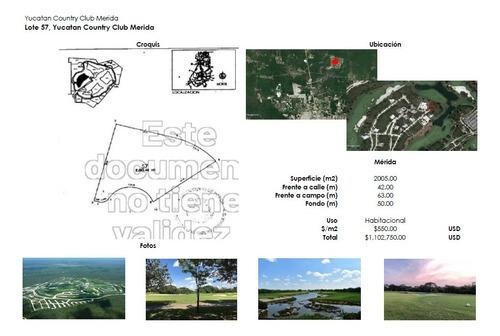 Terreno Al Norte De Mérida Club De Golf La Ceiba