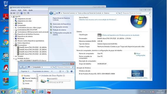 Mine Computador Cape 7 2.0 Modelo: Aw-nu103 Hd 320gb 2gb Ddr