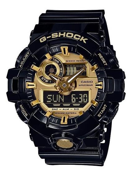 Relógio Casio G-shock Ga-710gb-1adr Analógico Digital