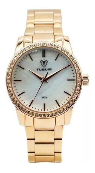 Relógio Feminino Tuguir 5346g Analógico Rose Com Nf-e