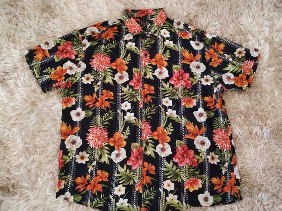 Camisa Masculina Estampada Manga Curta Tam : P,m,g,gg