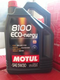 Aceite Motul 8100 Eco Nergy 5w30 Sintetico X 5 Lts Motovega
