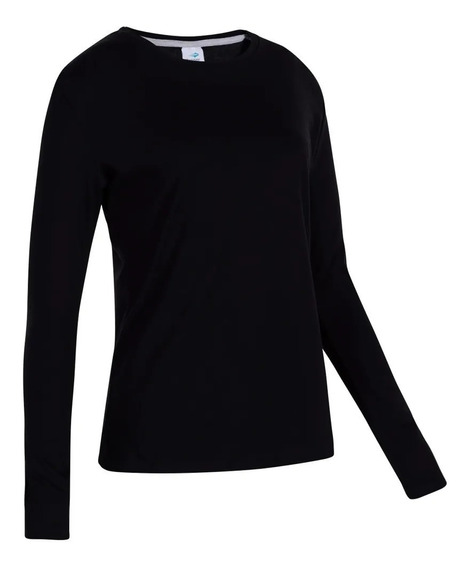 Remera Topper Basica Ml Mujer Black