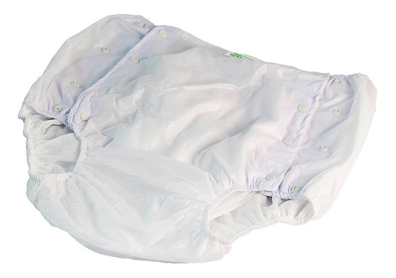 Calça Plastica Geriátrica Adulto Forrada Com Botão M