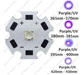 Chip Led 3w 3v 3535 Cree Aquário Roxo Uv 380 - 385 Nm