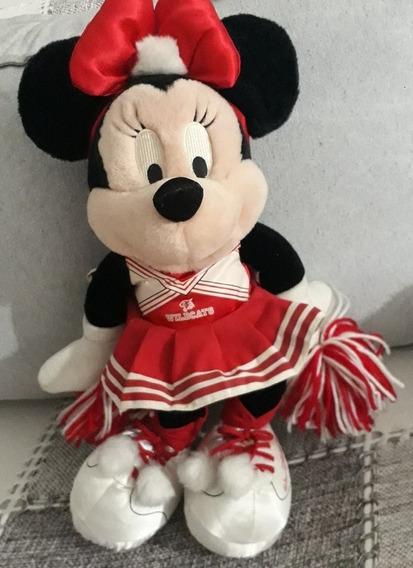 Pelúcia Minnie Líder Torcida 30 Cm Wildcats Original Disney
