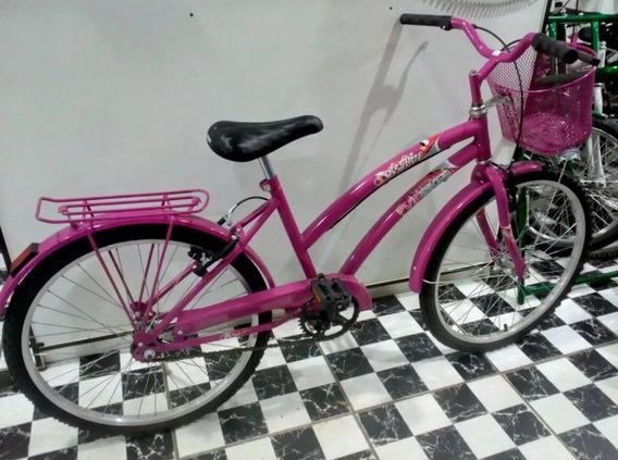 Criado Bicicleta Aro 24 Rosa Feminina Dolphin