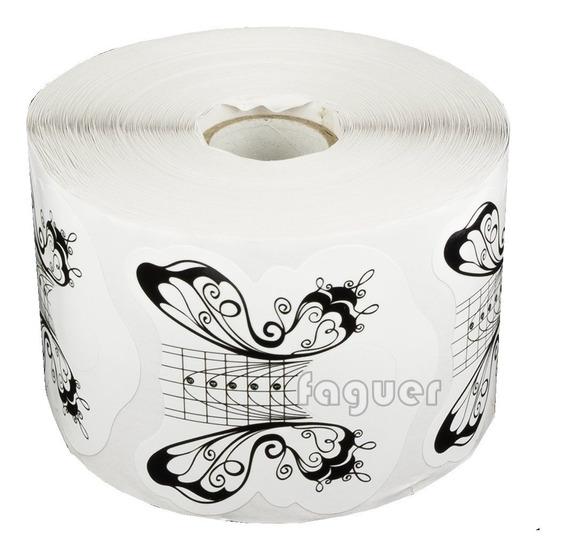 30 Moldes Descartables Mariposa Uñas Gel Acrilicas Almendra