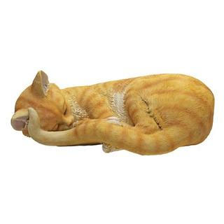 Diseño Toscano Cat Nap Sleeping Kitten Statue Multicolor