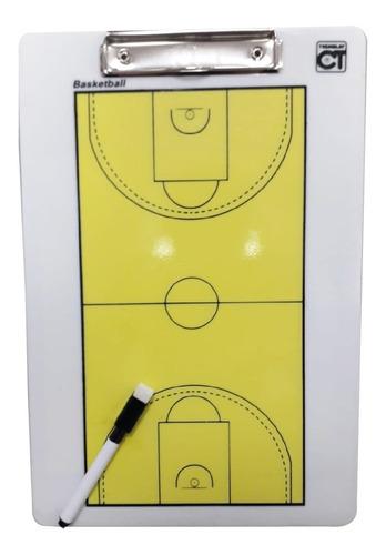 Pizarra Tacticas - Planilla - Basketball 34 X 23 Cm