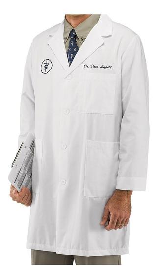 Jaleco Masculino Branco Personalizado Bordado Gabardine