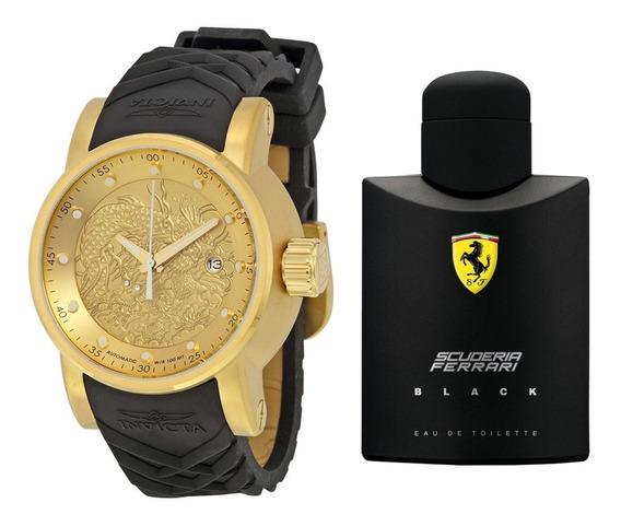 Rélogio Invicta Yakusa 15863 Brinde Perfume Ferrari Black