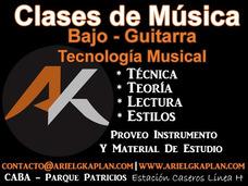Clases De Bajo Y Guitarra - Parque Patricios Barracas Boedo